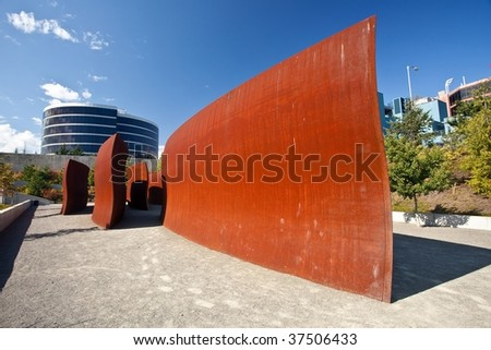 Olympic Sculpture Park is a public park in Seattle, Washington. - stock photo