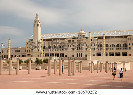 Olympic stadium in Barcelona, Spain - stock photo
