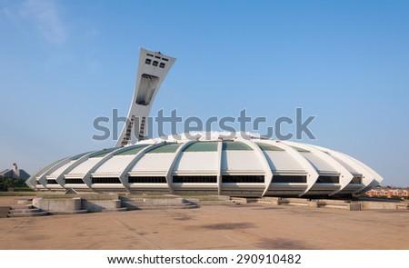 Olympic Stadium in Montreal Canada - stock photo