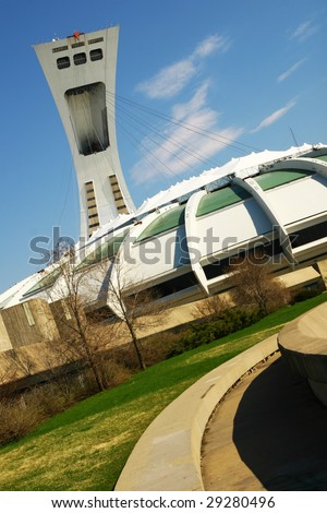 Olympic stadium, Montreal, Canada - stock photo