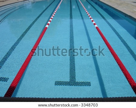 olympic swimming pool with competition lanes
