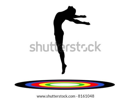 Olympics Gymnastics Trampoline Male - stock photo