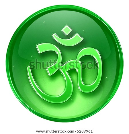 Om Symbol icon, isolated on white background. - stock photo