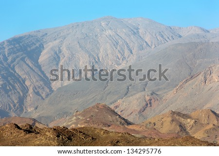 Omani mountains at the sunny day