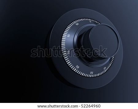 ombination Lock. Combination Safe Lock. - stock photo