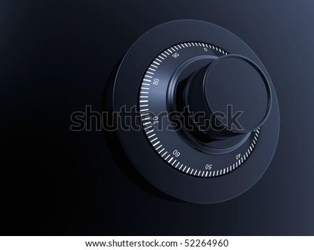 ombination Lock. Combination Safe Lock. - stock photo