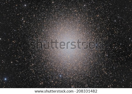 Omega Centauri is the largest globular cluster in the sky - stock photo