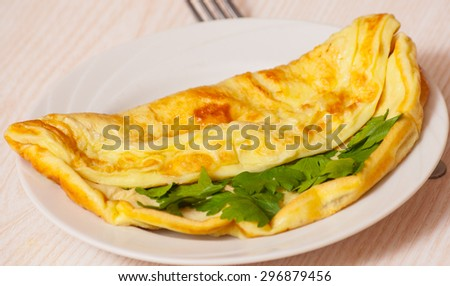 omelet - stock photo