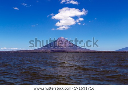 Ometepe volcano view - stock photo