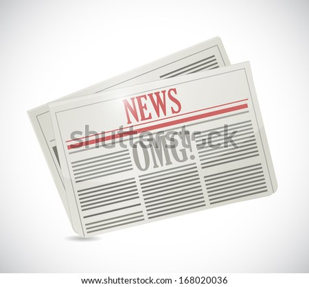 omg news illustration design over a white background - stock photo