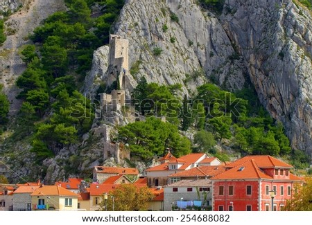 Omis Mirabella Fortress  - stock photo