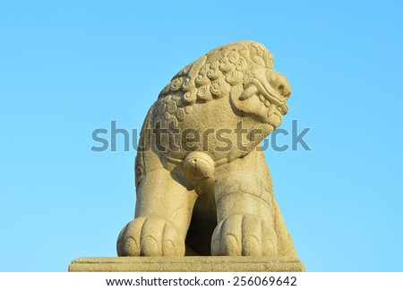 Omniscient Mythical Beast of the palace-1 - stock photo