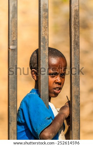 OMO, ETHIOPIA - SEPTEMBER 21, 2011: Unidentified Ethiopian . People in Ethiopia suffer of poverty due to the unstable situation - stock photo