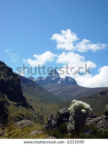 On a trek to the old vulcan Mount Kenya