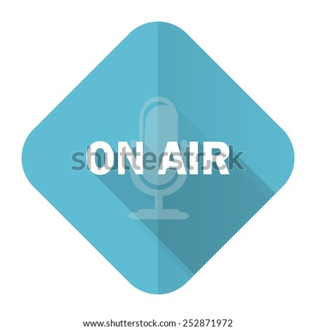on air flat icon   - stock photo