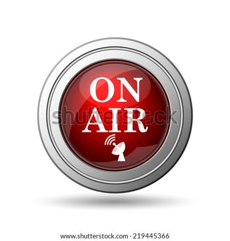 On air icon. Internet button on white background.  - stock photo