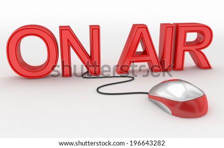 on air internet radio concept - stock photo