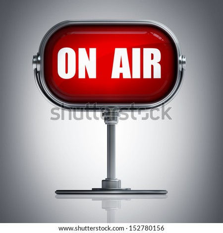 On air red plate. High resolution 3D image  - stock photo