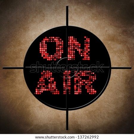 On air target - stock photo