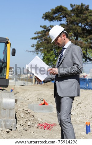 on building site - stock photo