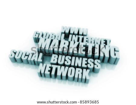 On line marketing related words - stock photo