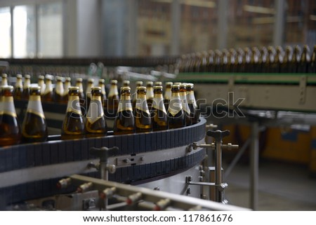 on location shot of a brewery - stock photo