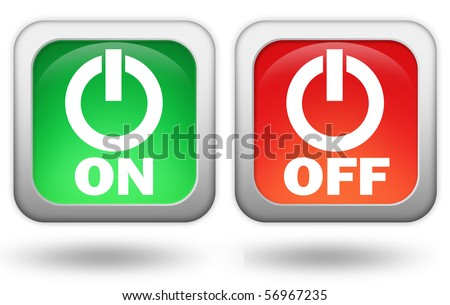 On off buttons - stock photo