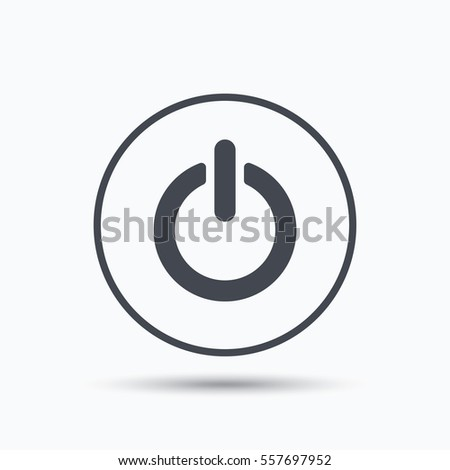 On Off Power Icon Energy Switch Stock Illustration 557697952