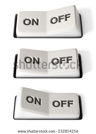 on off switch 3d illustration - stock photo