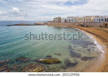 on Salento the Beach of Gallipoli, Puglia, Italy - stock photo