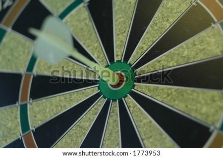 on target - stock photo