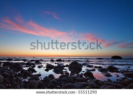 On the Baltic coast of Ruegen. - stock photo