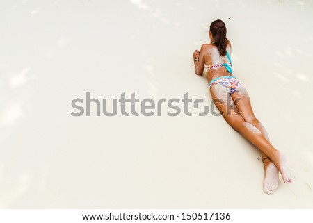 on the beach - stock photo