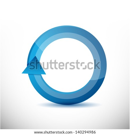 On the move 360 degrees concept cycle illustration design over white - stock photo