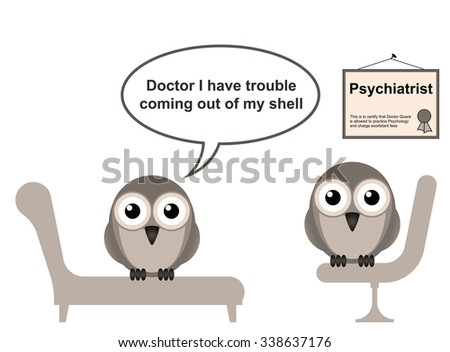 On the Psychiatrist couch with Doctor Quack and Shyness