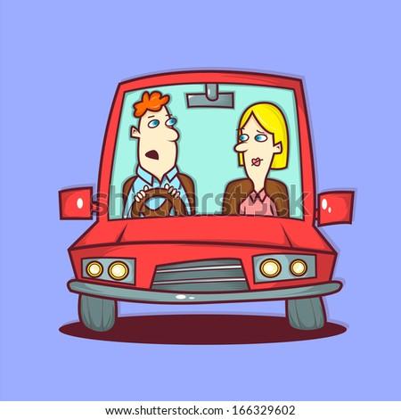On The Road Illustration - stock photo