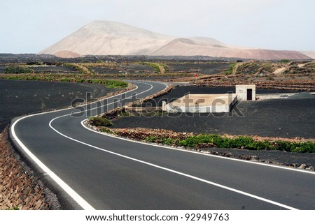 On the road, Lanzarote islands. Follow your direction.
