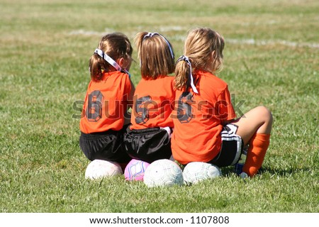 On the sideline - stock photo