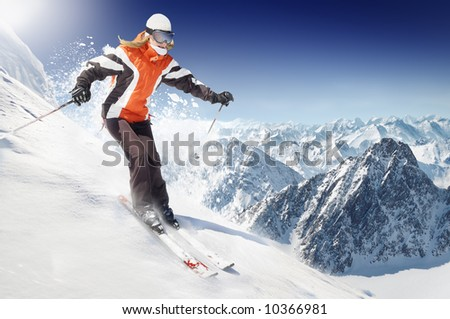 On the Ski - stock photo