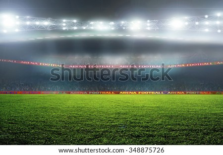 On the stadium. abstract football or soccer backgrounds  - stock photo