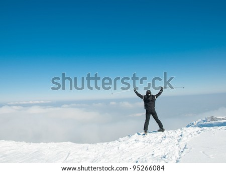 On the top - stock photo