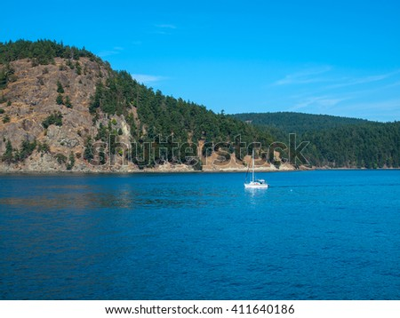 On the Water in Puget Sound Washington State USA - stock photo
