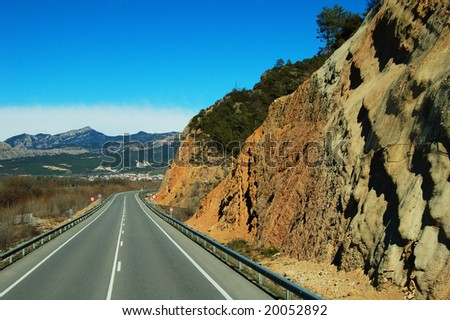 on the way to andorra - stock photo