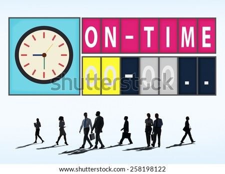 On Time Punctual Efficiency Organization Management Concept - stock photo