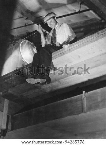 ON TOP OF THINGS - stock photo
