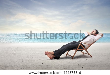 on vacation - stock photo