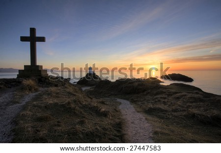 On Ynys Llanddwyn an Island off Newborough Forest On the Isle of Anglesey Wales