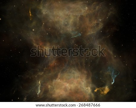 Once Upon a Space series. Artistic background made of fractal clouds for use with projects on Universe, cosmos, astronomy, science and education - stock photo