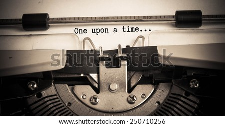 once upon a time concept on paper with typewriter  - stock photo