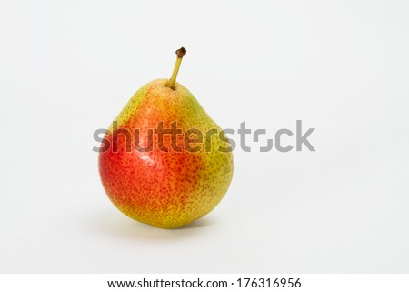 One, appetizing pear isolated on white background.